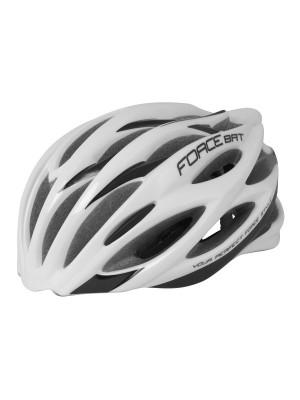 FORCE cyklo helma BAT bílo-černá