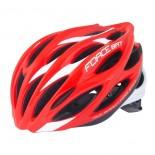 FORCE cyklo helma BAT červeno-bílá