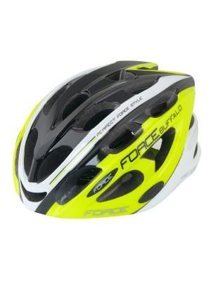 FORCE cyklo helma BUFFALO flou/černo/bílá