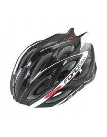 FORCE cyklo helma BULL černo/bílá