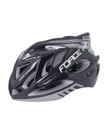 FORCE cyklo helma FUGU černo/šedá