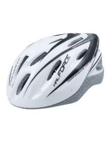 FORCE cyklo helma HAL bílo/černá