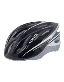 FORCE cyklo helma HAL černo/šedá