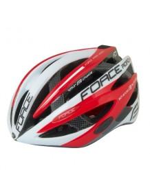 FORCE cyklo helma ROAD PRO bílo/červená