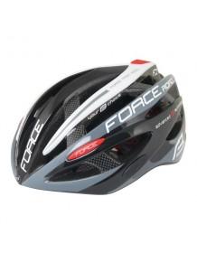 FORCE cyklo helma ROAD PRO černo/šedo/bílá