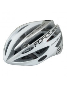 FORCE cyklo helma ROAD bílo/šedá