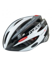 FORCE cyklo helma ROAD černo/bílo/šedá
