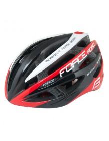 FORCE cyklo helma ROAD černo/červeno//bílá
