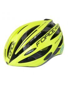 FORCE cyklo helma ROAD černo/fluo
