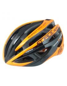 FORCE cyklo helma ROAD černo/oranžová