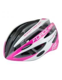 FORCE cyklo helma ROAD černo/růžovo/bílá
