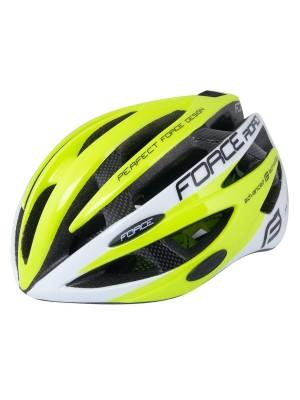 FORCE cyklo helma ROAD fluo/bílá