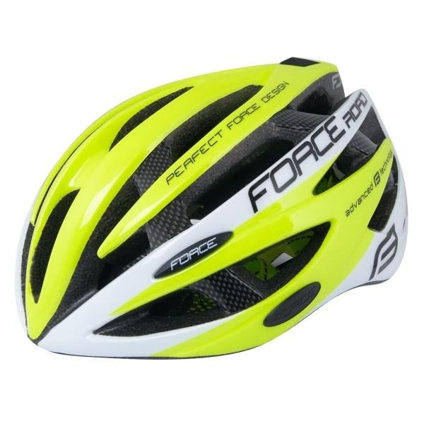 112d52e4c3 FORCE - - FORCE cyklo helma ROAD fluo bílá - S M 54-58cm