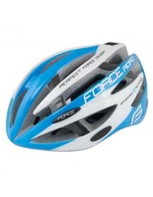 FORCE cyklo helma ROAD modro/bílá