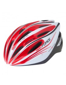 FORCE cyklo helma TERY bílo/červeno/černá