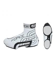 FORCE návleky na cyklistické boty RAINY bílé