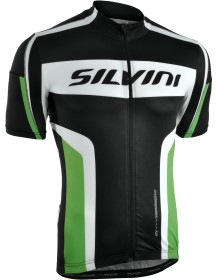 SILVINI pánský cyklistický dres LEMME MD603 black-green