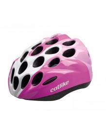 CATLIKE dětská cyklo helma KITTEN R008 pink-white