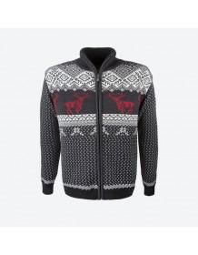 KAMA svetr s jeleny 4048 - modrý