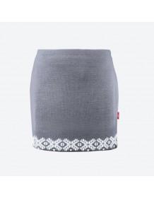 KAMA pletená sukně 6002 - šedá