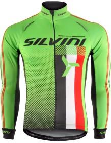SILVINI pánské zateplený dres TEAM MD833 green