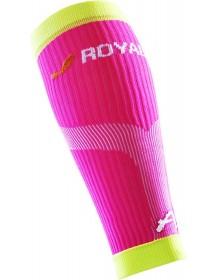 ROYAL BAY Neon kompresní lýtkové návleky růžové