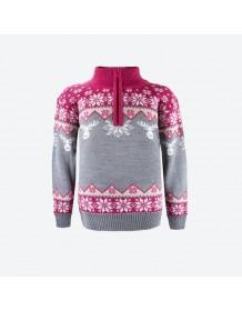 KAMA dětský svetr 1012 růžový