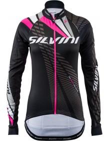 SILVINI dámský zateplený dres TEAM WD1403 black-pink