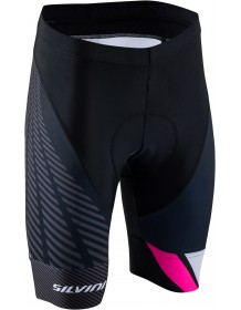 SILVINI dámské cyklistické kalhoty pas TEAM WP1409 black-red