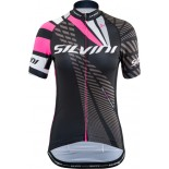SILVINI dámský cyklistický dres TEAM WD1402 black-pink