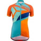 SILVINI dětský cyklistický dres TANARO CD1433 orange-sky