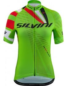SILVINI dámský cyklistický dres TEAM WD1402 green-red