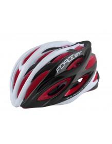 FORCE cyklo helma BAT černo-bílá