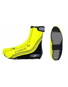 FORCE návleky na cyklistické boty PU DRY fluo