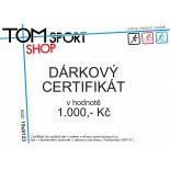 Dárkový certifikát TOMSPORT 1000