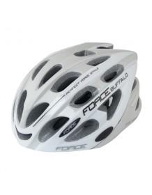 FORCE cyklo helma BUFFALO šedo/bílá