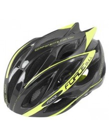 FORCE cyklo helma BULL černo/fluo