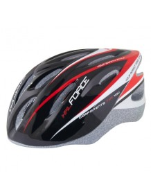 FORCE cyklo helma HAL černo/červená
