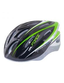 FORCE cyklo helma HAL černo/zelená