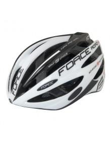 FORCE cyklo helma ROAD PRO bílo/černá