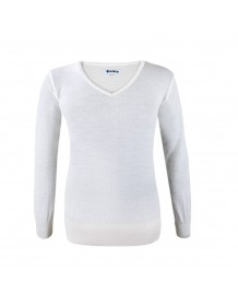 KAMA dámský svetr bez podšívky 5101 - bílý