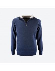 KAMA pánský svetr bez podšívky 4105 - modrý