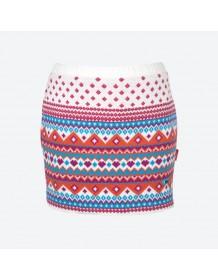 KAMA pletená sukně 6001 - modrá