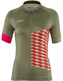 SILVINI dámský cyklistický dres SABATINI WD1207 olive-punch