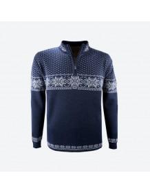 KAMA svetr bez podšívky 4053 - modrý