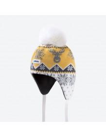 KAMA dětská pletená čepice BW21 - tyrkysová