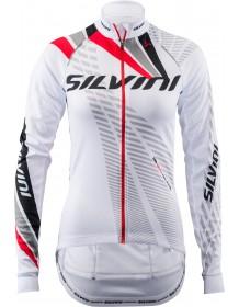 SILVINI dámský zateplený dres TEAM WD1403 white-red