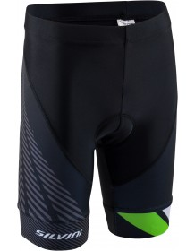 SILVINI dětské cyklistické kalhoty TEAM CP1436 black-green