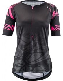 SILVINI dámský cyklistický dres STABINA WD1432 black-pink