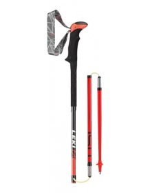 LEKI Hole Trekking Micro Stick Carbon red